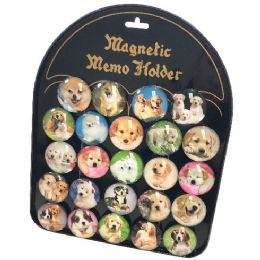 72 Units of Round Dome Magnets Dogs With Display Board - Refrigerator Magnets