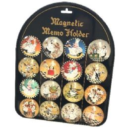 96 Units of Round Dome Magnets Chef With Display Board - Refrigerator Magnets