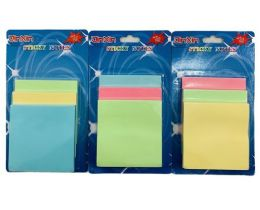 36 of Three Pack Sticky Notes Pastel