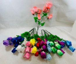 36 Units of 7 Head Roes - Artificial Flowers