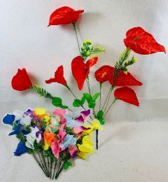 36 Units of 8 Head Flowers - Artificial Flowers