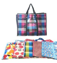 36 Units of Jumbo Printed Shopping Bag With Handles - Shopping Cart Liner