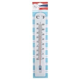 72 Units of Thermometer Jumbo Wall 3x16in In/outdoor Plastic Garden Summer Blister Card - Garden Decor