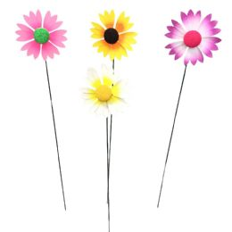 216 Units of Yard Stake Colorful Daisies - Garden Decor