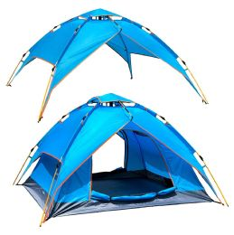 2 Wholesale Camping Tent Light Blue 3-4 People