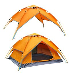 2 Wholesale Camping Tent Orange 3-4 People