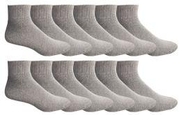 60 Bulk Yacht & Smith Men's King Size No Show Ankle Socks .size 13-16 Gray