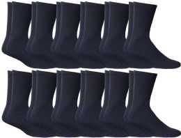 120 Units of Yacht & Smith Kids Cotton Crew Socks Navy Size 6-8 - Boys Crew Sock