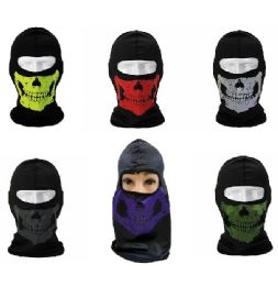 24 Units of Ninja Face Mask [skullS-Color Assortment] - Unisex Ski Masks