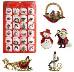 48 Wholesale Christmas Pins Display