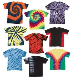72 Units of TiE-Dye - Youth TiE-Dye T-Shirt Assorted Colors And Sizes - Unisex Apparel