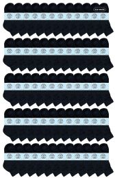 240 Units of Yacht & Smith Kids Cotton Quarter Ankle Socks In Black Size 6-8 - Boys Ankle Sock