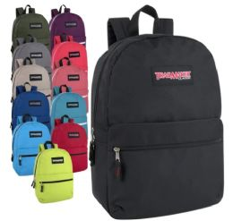 """24 Units of Classic 17 Inch Backpack - In 12 Colors - Backpacks 17"""""""