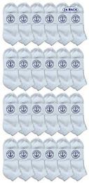 24 Units of Yacht & Smith Women's NO-Show Cotton Ankle Socks Size 9-11 White - Womens Ankle Sock