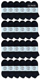 24 Units of Yacht & Smith Women's NO-Show Cotton Ankle Socks Size 9-11 Black - Womens Ankle Sock