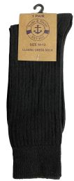 36 Units of Yacht & Smith Mens Fashion Designer Dress Socks, Cotton Blend, Textured Design Knit (36 Pairs Black) - Mens Dress Sock