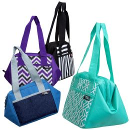 """24 Units of 10"""" Inch Insulated Triangle Frame Insulated Cooler In 4 Assorted Colors - Lunch Bags & Accessories"""