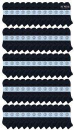 72 Bulk Yacht & Smith Men's King Size Cotton Terry Cushion Sport Ankle Socks Size 13-16 Black