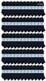 60 Bulk Yacht & Smith Men's King Size Cotton Terry Cushion Sport Ankle Socks Size 13-16 Black