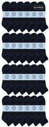 24 Bulk Yacht & Smith Men's King Size Cotton Terry Cushion Sport Ankle Socks Size 13-16 Black
