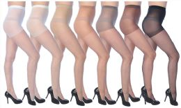72 Units of Ultra Sheer Pantyhose In White - Womens Thigh High Stocking
