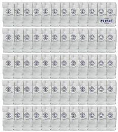 72 Units of Yacht & Smith Kids White Solid Tube Socks Size 4-6 - Boys Crew Sock