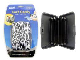 192 Bulk Zebra Print Card Caddy