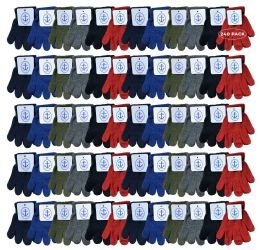 240 Units of Yacht & Smith Kids Warm Winter Colorful Magic Stretch Gloves Ages 2-5 - Kids Winter Gloves