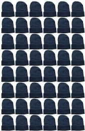 240 Units of Yacht & Smith Unisex Winter Warm Beanie Hats In Solid Black - Winter Beanie Hats