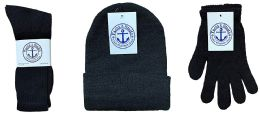 180 Bulk Yacht & Smith Bundle Care Combo Pack, Wholesale Hats Glove, Socks (180, Mens)