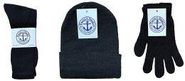 720 Bulk Yacht & Smith Bundle Care Combo Pack, Wholesale Hats Glove, Socks (720, Mens)