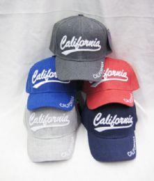 "36 Wholesale Kid's ""california"" Base Ball Cap"