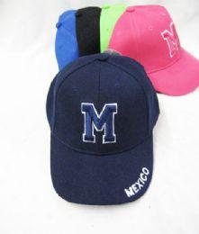 "36 Wholesale Kid's ""mexico"" Base Ball Cap"