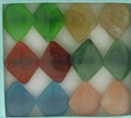 36 Wholesale Diamond Shaped Acrylic On Black Acrylic Band Assorted Colors