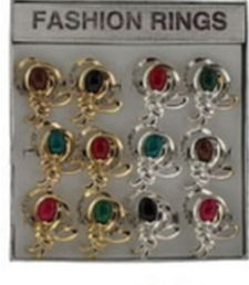 36 Wholesale Gold Tone And Silver Tone Rings With An Intricate Design