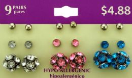 36 Wholesale Hypo Allergenic Stud Earrings