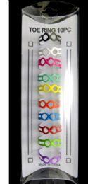 36 Wholesale Toe Rings With Moebius Strip Infinity Symbol Design