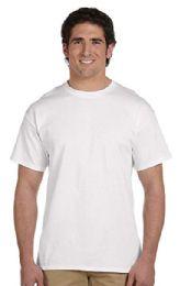 72 Bulk Men's Fruit Of The Loom Cotton Blend White T-Shirt, Size 2xl