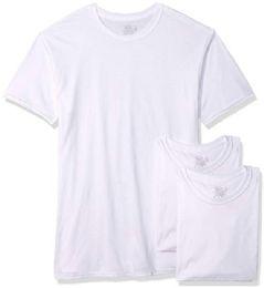 72 Bulk Men's Fruit Of The Loom Polyester Blend White T-Shirt, Size 3xl