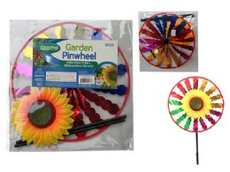 144 Units of 11.5'' Round Sunflower Wind Spinner - Wind Spinners