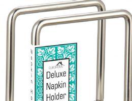 12 Units of Heavy Duty Satin Nickel Napkin Holder - Napkin and Paper Towel Holders