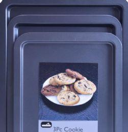 12 Units of 3 Piece Cookie Sheet Set - Baking Supplies