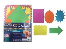 144 Wholesale 5 Piece PrE-Cut Poster Boards