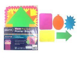 144 Wholesale 5 Piece Neon Pre Cut Poster Boards