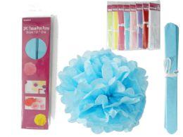 72 Wholesale 2 Piece Tissue Pom Pom
