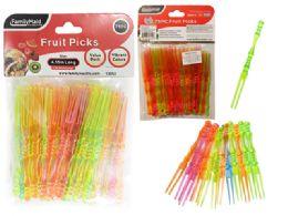 144 Units of 75 Piece Fruit Picks - Toothpicks