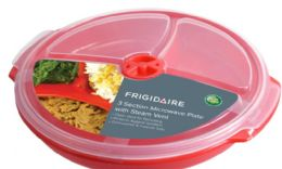 12 Units of 3 Section Microwave Plate - Microwave Items