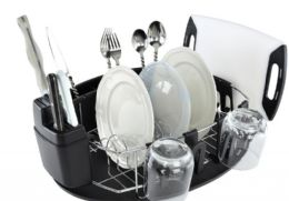 4 Units of Stianless Steel And Chrome Dish Rack - Dish Drying Racks