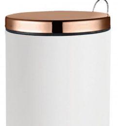 2 Units of 20 Liter Rose Gold And White Stepbin - Waste Basket