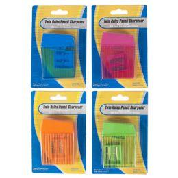 144 Bulk 2 Hole Pencil Sharpener W/bonus Mini Sharpener